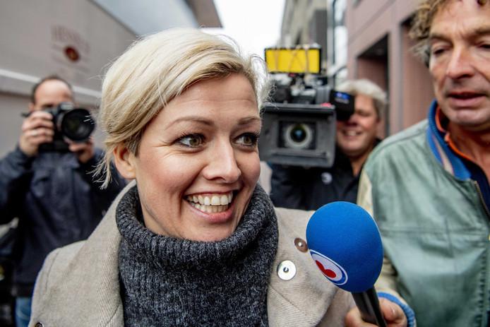 Jenny Douwes voorafgaande de uitspraak in de rechtszaak rond de A7-blokkade vandaag.