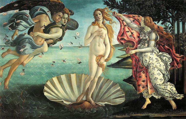 'De geboorte van Venus' van Sandro Botticelli (1485). Beeld