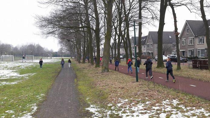 De beoogde plek voor de trimbaan in Veenendaal.