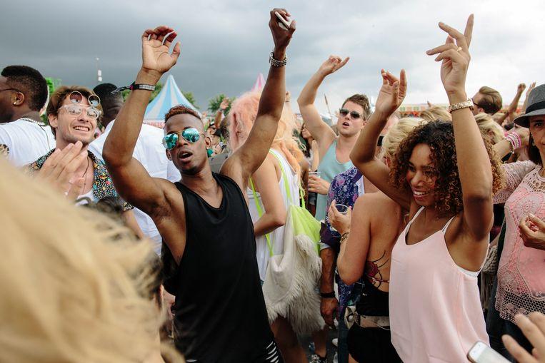 Milkshake Festival in het Westerpark, 30 juli 2016.  Beeld Marc Driessen