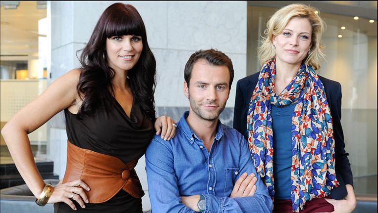 Katja, Bram en Dina: het team waarmee 'Voor de Show' gelanceerd werd Beeld photo news