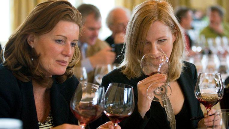Een wijnproeverij in het Amstelhotel. Beeld anp