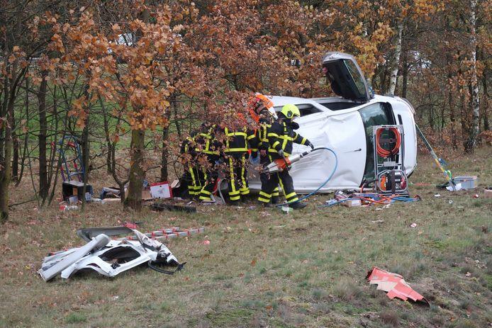 Bij het ongeluk waren meerdere voertuigen betrokken.