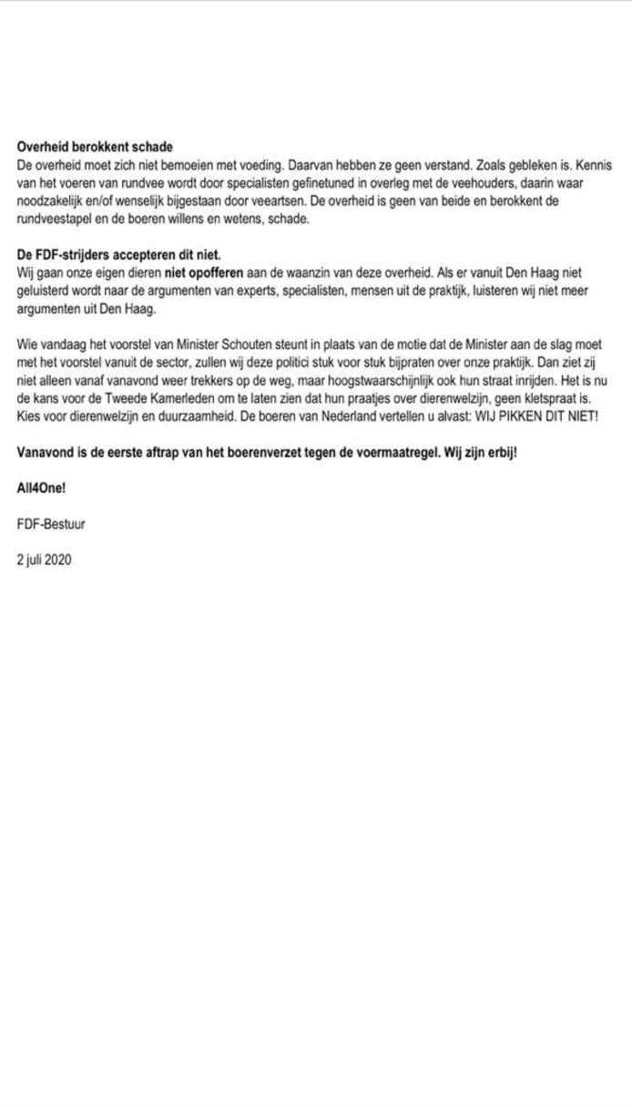 statement FDF