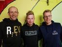 Fietsen en wandelen voor Laura: initiatiefnemers van de fietstocht. Van links naar rechts: Koen Van Roey, Niels Merckx en Jens Hendrickx