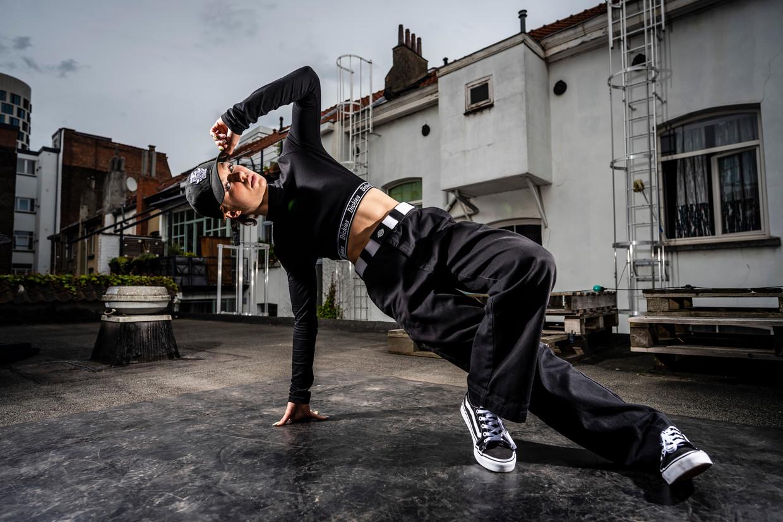 De Belgische Maxime Blieck, ook bekend als Madmax, behoort tot de wereldtop in het breakdancen. Beeld Gregory Van Gansen / Photo News