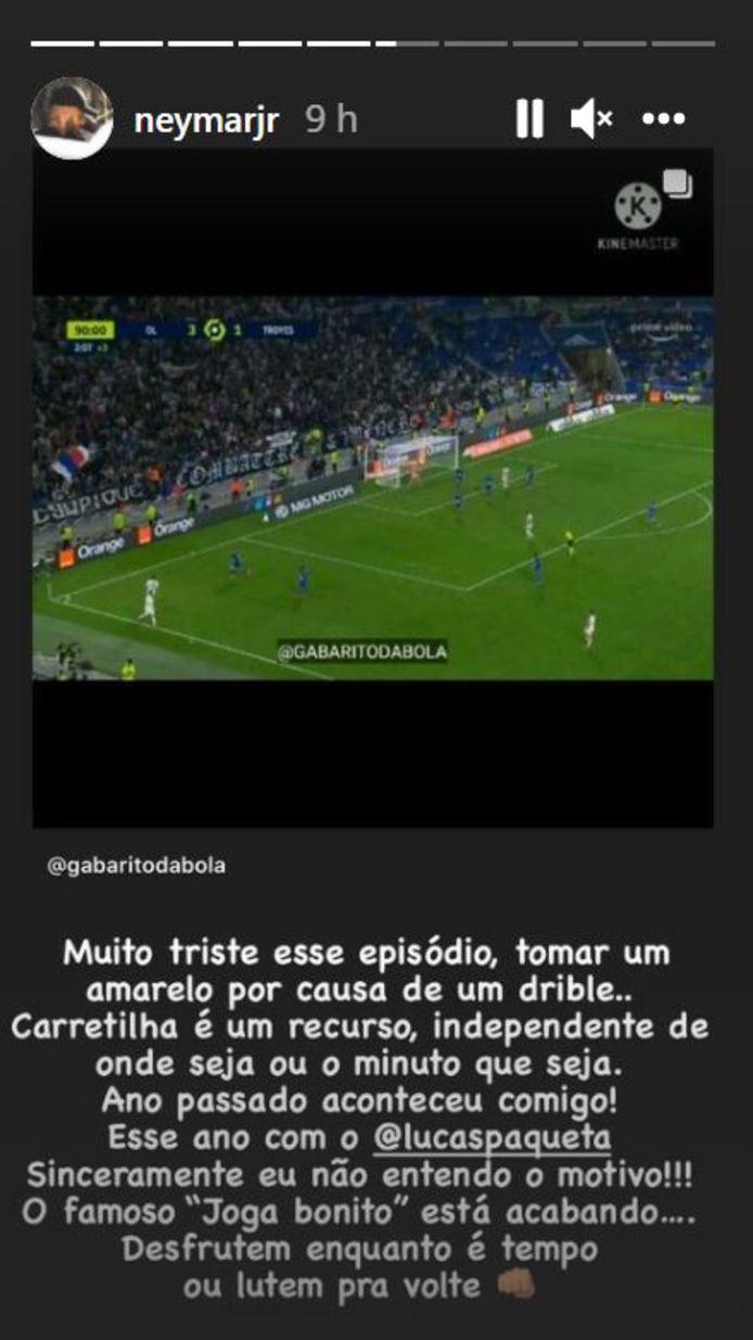 Neymar s'étonne du carton jaune reçu par Paqueta