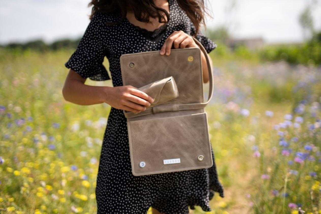 Een van de tassen uit de collectie van Zhaboo