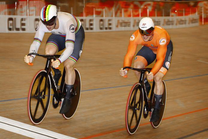 Harrie Lavreysen en Jeffrey Hoogland.