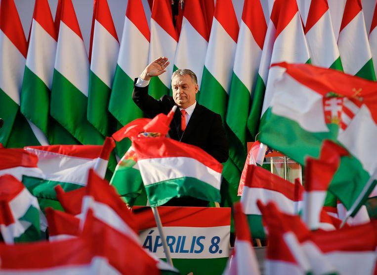 In Hongarije van premier Viktor Orbán staan journalisten en media sterk onder druk. Beeld AP