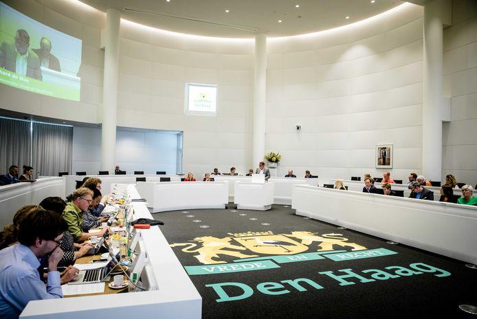 De Haagse raad vergadert over het coalitieakkoord.