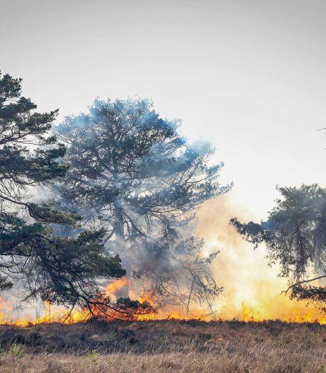 Code rood in droge natuur na grote branden in Drenthe
