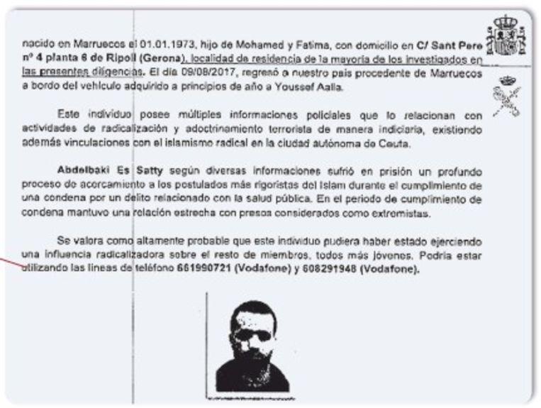 Abdelbaki Es Satty had 'in de gevangenis een diepgaand proces van toenadering tot de meest rigoureuze stellingen van de islam ondergaan'. Beeld rv