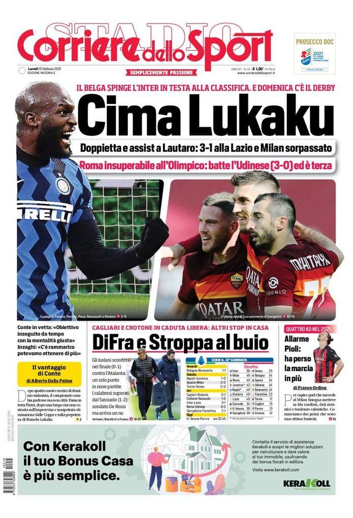 Corriere dello Sport over Lukaku.