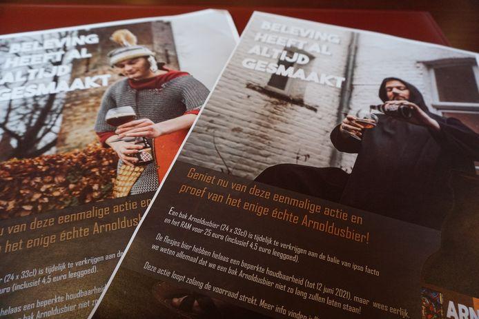 De promocampagne voor het goedkopere Arnoldusbier.