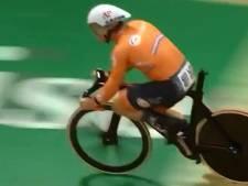 Jeffrey Hoogland verliest op hoge snelheid zijn zadel