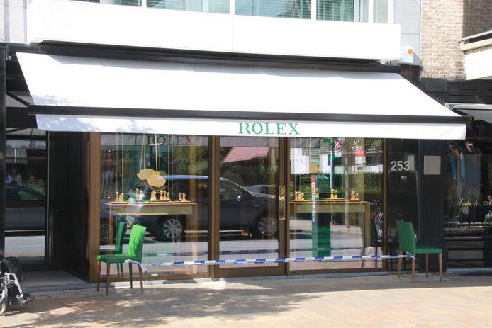 Luxehorlogezaak Rolex Boutique in de Kustlaan.
