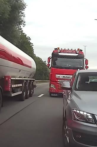 """Dashcambeelden tonen opvallend geval van verkeersagressie op E40 richting Brussel: """"Zie hem doen, dat gaat accidenten geven!"""""""