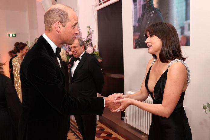 Prins William en Ana de Armas.