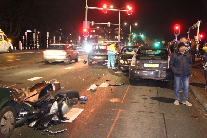 De bestuurder reed tegen de richting in om zijn slachtoffer aan te rijden