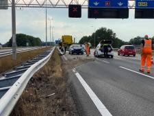 Verkeersruzie leidt tot ongeluk op A1 bij Wilp