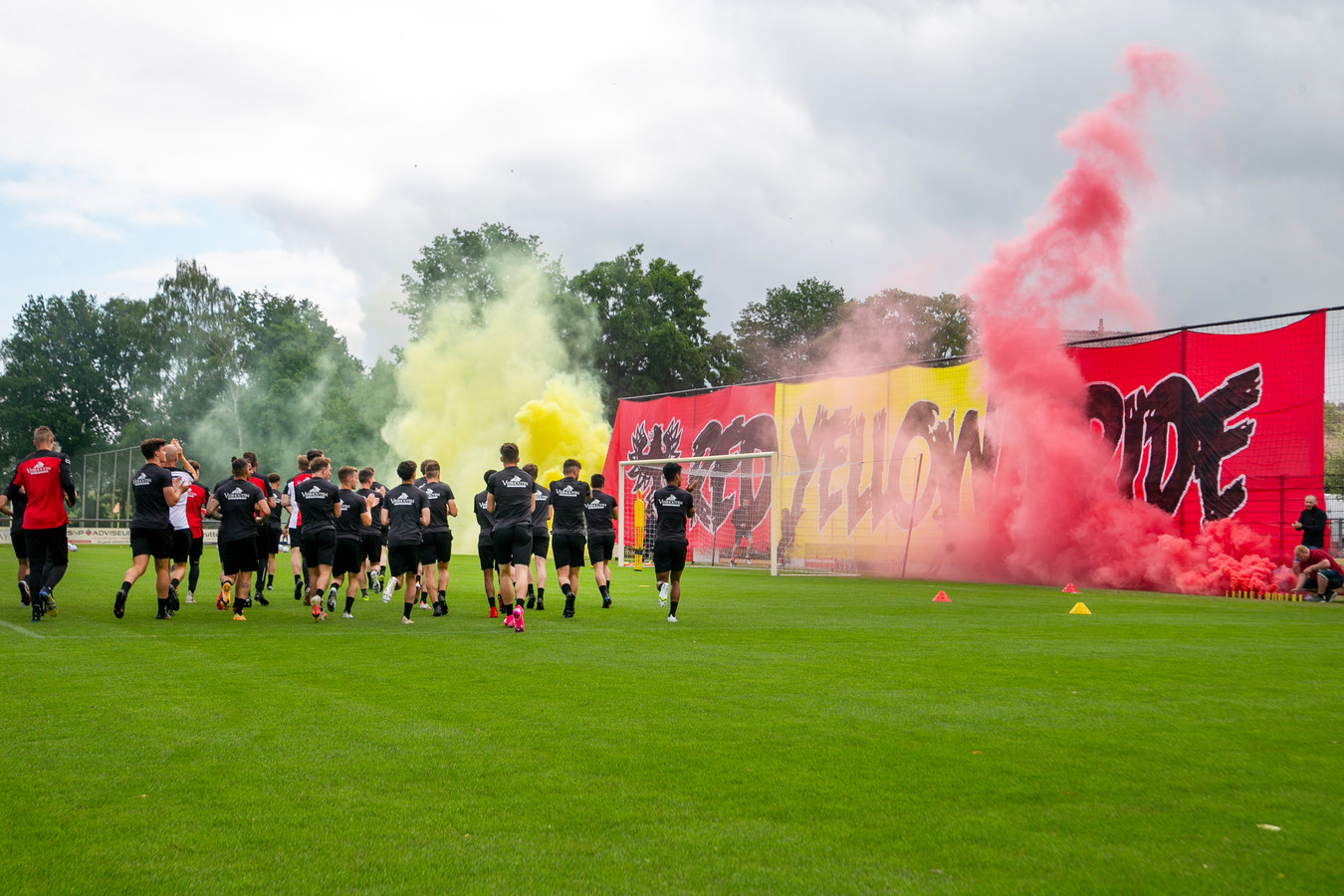 De sfeervolle Woldermarck in Terwolde bij aftrap van seizoen voor GA Eagles.