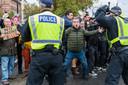 Anti-lockdowndemonstranten in Londen.