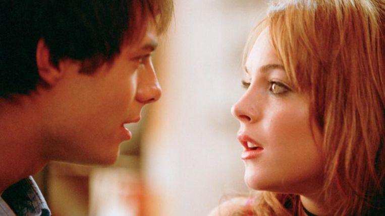 Jonathan Bennett en Lindsay Lohan in Mean Girls. Beeld