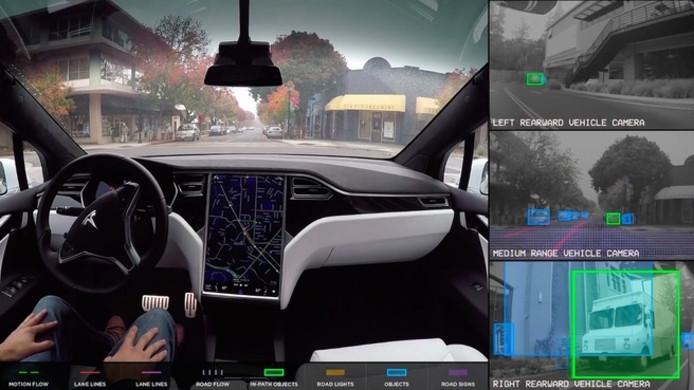 Tesla maakt zijn auto's nu al grotendeels zelfrijdend, terwijl de concurrentie nog een afwachtende houding aanneemt