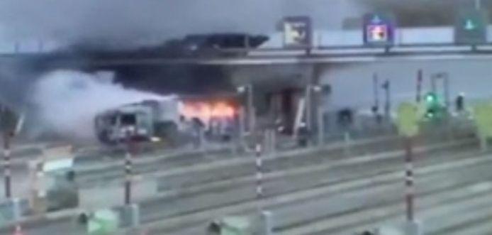 Crash op Franse snelweg.
