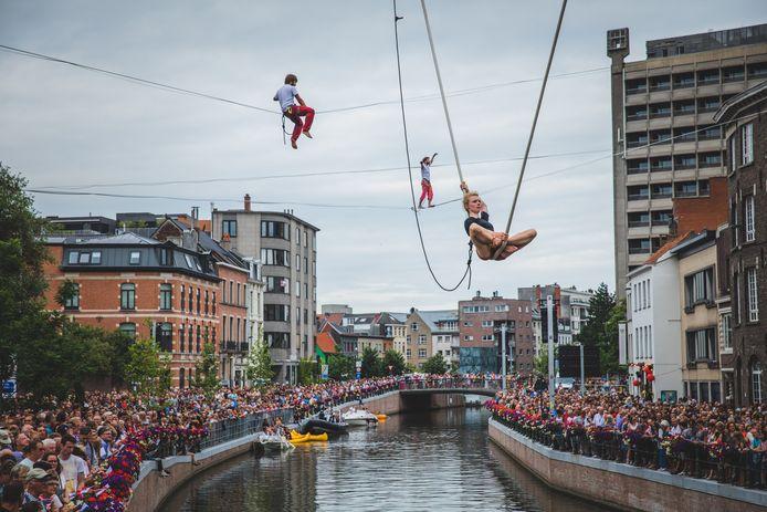 De opening van de Gentse Feesten editie 2019 aan de Reep, de laatste échte Feesten.