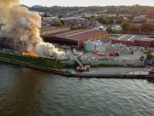Important incendie dans un centre de tri à Herstal: la colonne de fumée était visible à plusieurs kilomètres