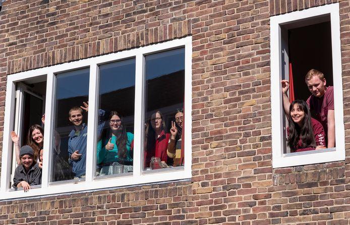 Studenten, vorig jaar in het Bagijnhof, in Middelburg.