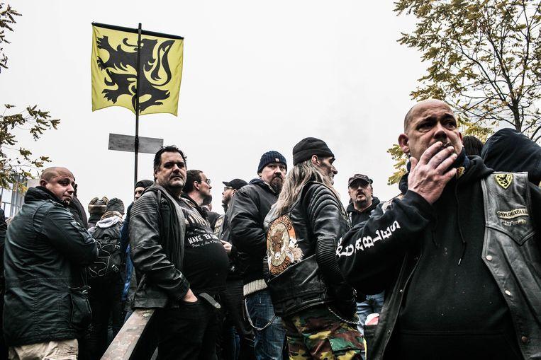 Mars tegen Marrakesh met leden van motorclub Deplorables. Beeld Bas Bogaerts