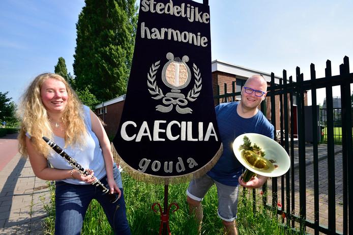 d84196761a0661 Louise Bokhoven en Marco Slagboom van muziekvereniging Stedelijke Harmonie  Caecilia.
