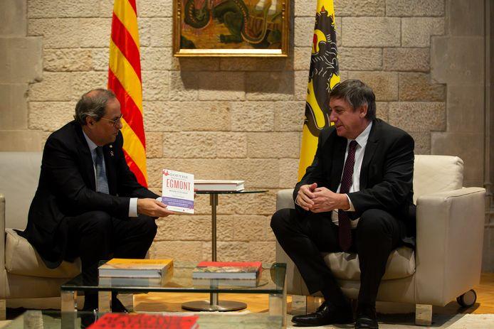 Jan Jambon in gesprek met de Catalaanse president Quim Torra