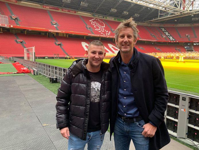 Aspinall ontmoette Van der Sar in de ArenA in Amsterdam in 2019.