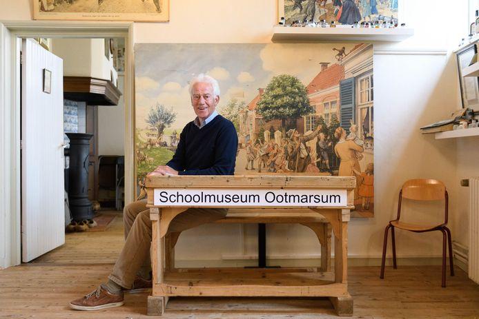 Voorzitter Hans van Zuilekom in het Onderwijsmuseum. Het museum blijft de rest van het jaar dicht.