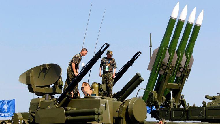 Een Russisch Buk-M2-raketsysteem op archiefbeeld. Beeld EPA