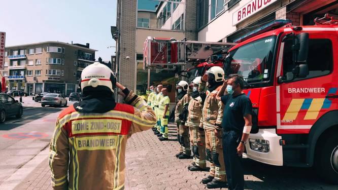 Loeiende sirenes en een minuut stilte bij Aalsterse brandweer