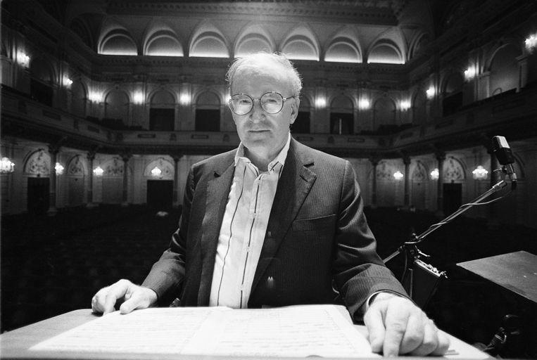 Amerikaanse dirigent en schrijver Robert Craft. Beeld Redferns