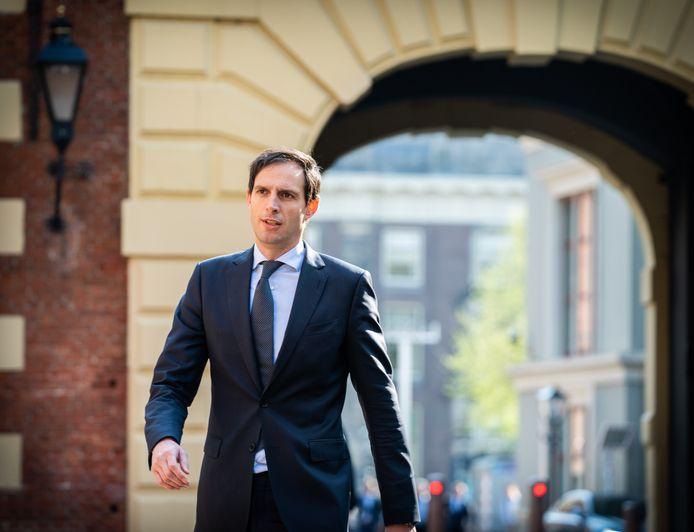 De Nederlandse ontslagnemend minister Wopke Hoekstra van Financiën.