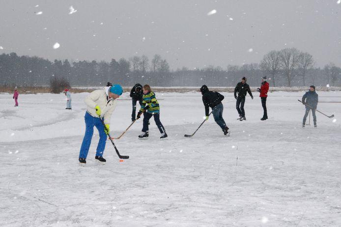 Een foto in Diest in een winter toen schaatsen wel kon, voorlopig zit het er niet meteen in.