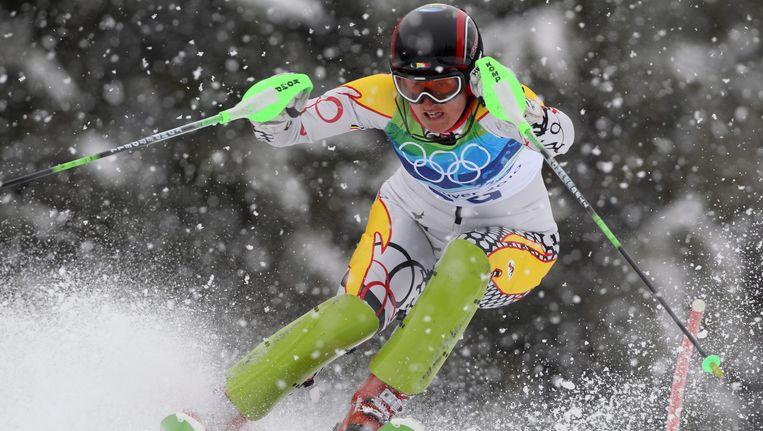 Karen Persyn knokte zich in de Italiaanse sneeuw naar een twaalfde stek. Beeld EPA