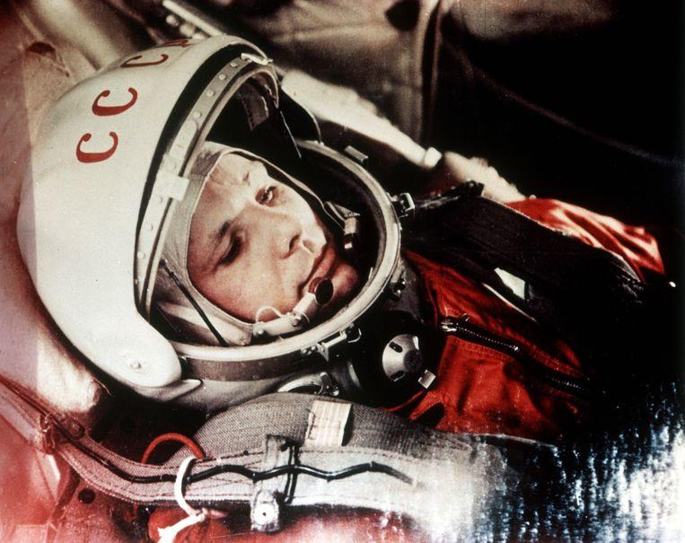 Op 12 april 1961 schoten de Sovjets de eerste mens de ruimte in, Joeri Gagarin. Zestig jaar later werft de Europese ruimtevaartorganisatie ESA een nieuwe generatie astronauten (m/v). Beeld © Sovfoto\UIG
