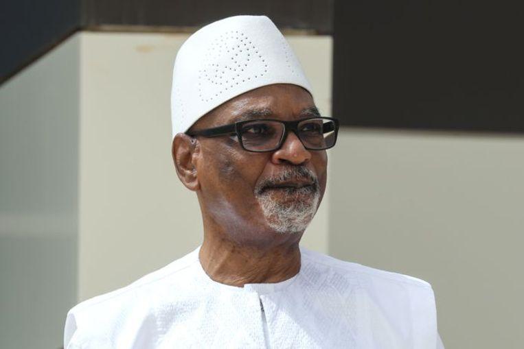 De afgezette Malinese president Ibrahim Boubacar Keïta. Beeld EPA