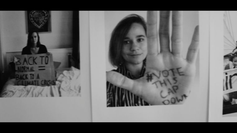 Lena Hartog: 'Voor mij zijn moed en hoop ook een keuze'.  Beeld