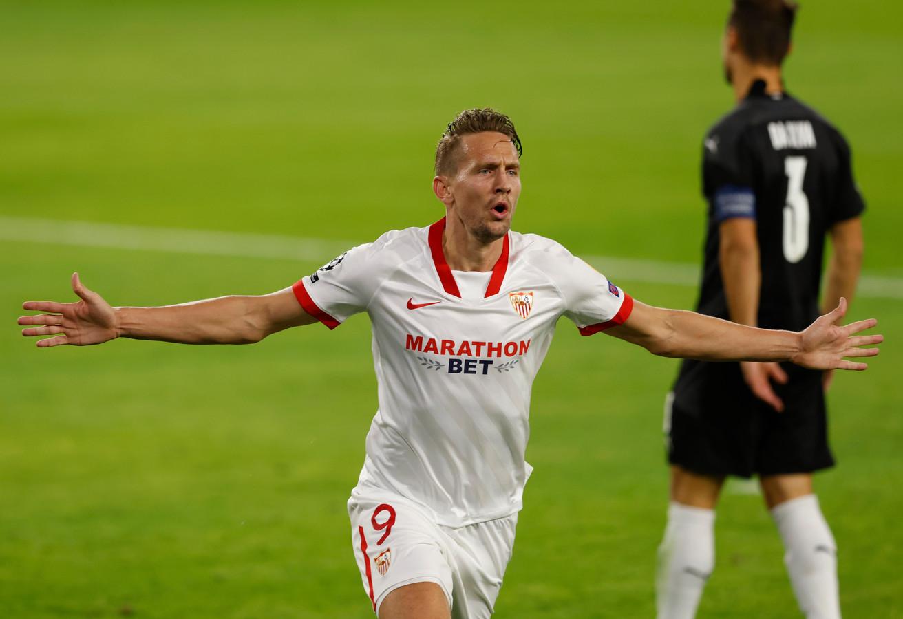 Luuk de Jong droomt met Sevilla van de Spaanse titel.