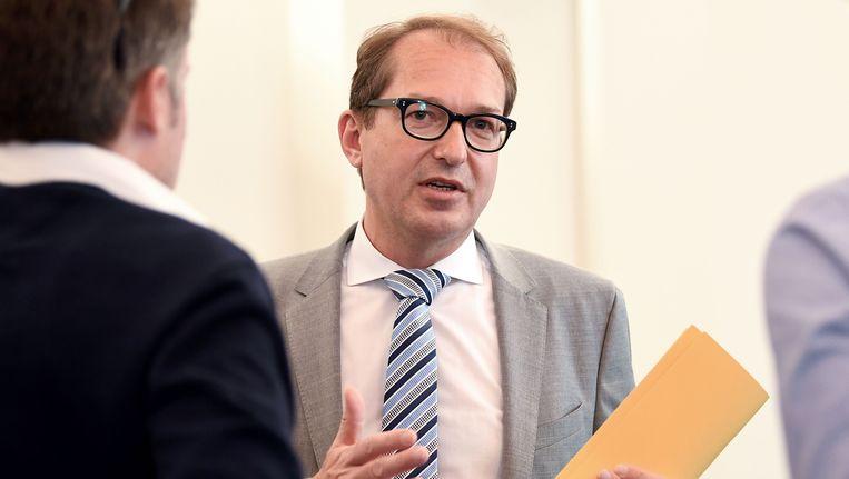 Alexander Dobrindt, Duits minister van Verkeer. Beeld AFP