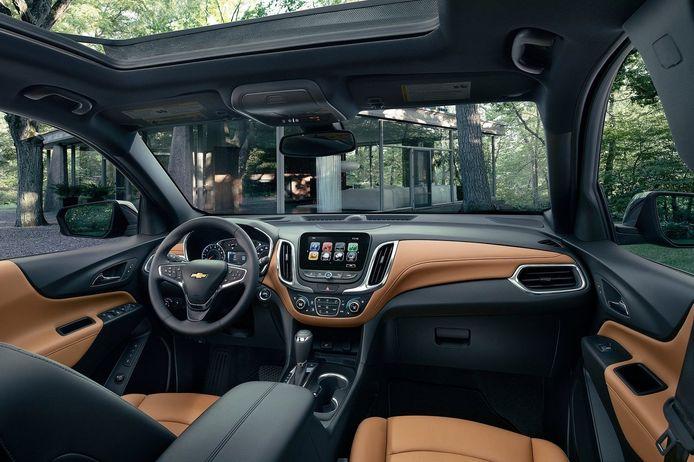 Het interieur van de Chevrolet Equinox.